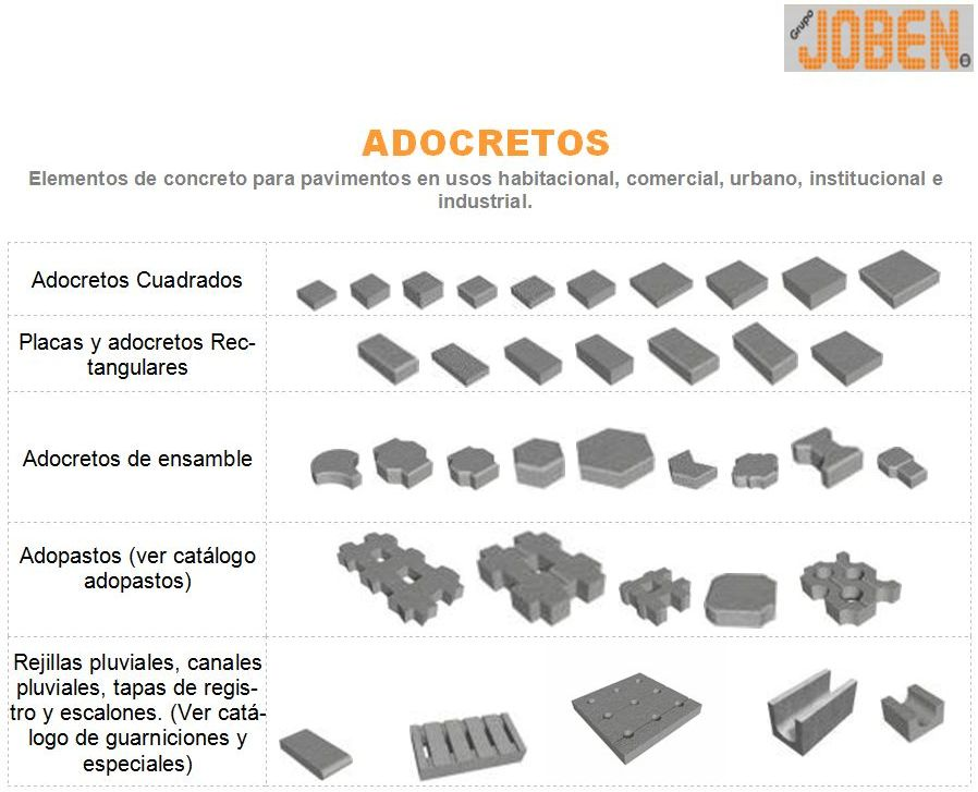 CATALOGO ADOCRETOS