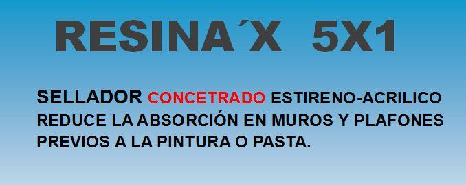 RESINA´X 5 X 1 ETIQUETA